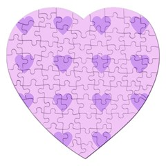 Violet Heart Jigsaw Puzzle (heart)