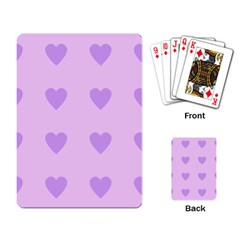 Violet Heart Playing Card