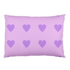 Violet Heart Pillow Case