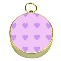 Violet Heart Gold Compasses