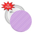 Lilac Diagonal Lines 2.25  Buttons (10 pack)  Front