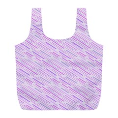 Silly Stripes Lilac Full Print Recycle Bags (l)