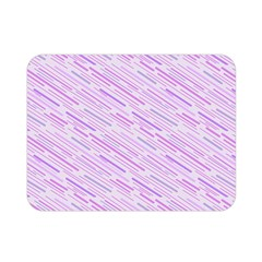 Silly Stripes Lilac Double Sided Flano Blanket (mini)