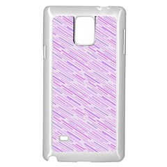 Silly Stripes Lilac Samsung Galaxy Note 4 Case (white)