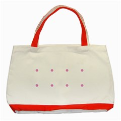 Pink Dots Classic Tote Bag (red)
