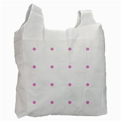 Pink Dots Recycle Bag (one Side)