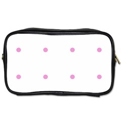 Pink Dots Toiletries Bags