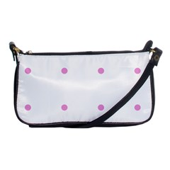 Pink Dots Shoulder Clutch Bags