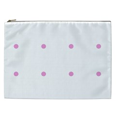 Pink Dots Cosmetic Bag (xxl)