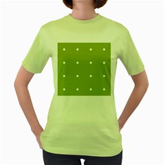 Olive Dots Women s Green T Shirt