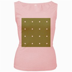 Olive Dots Women s Pink Tank Top