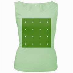 Olive Dots Women s Green Tank Top