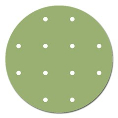 Olive Dots Magnet 5  (round)