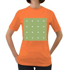 Olive Dots Women s Dark T Shirt