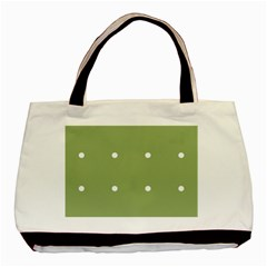 Olive Dots Basic Tote Bag