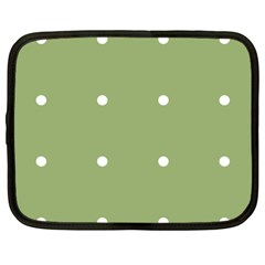Olive Dots Netbook Case (xl)