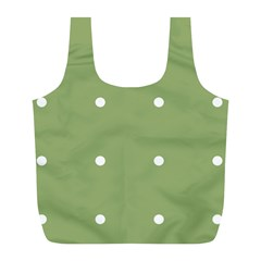 Olive Dots Full Print Recycle Bags (l)
