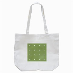 Olive Dots Tote Bag (white)
