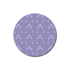 Pink Hat Rubber Coaster (round)