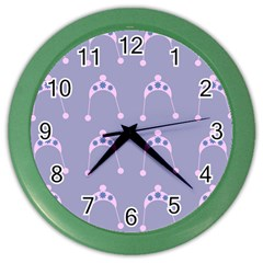 Pink Hat Color Wall Clocks