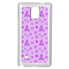 Purple Dress Samsung Galaxy Note 4 Case (white)