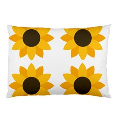 Big Sunflowers Pillow Case (two Sides)