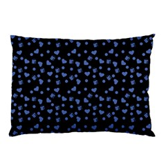 Blue Hearts Pillow Case (two Sides)