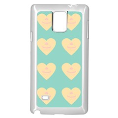 Teal Cupcakes Samsung Galaxy Note 4 Case (white)