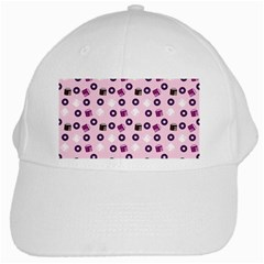 Pink Donuts White Cap