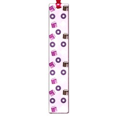 Pink Donuts Large Book Marks
