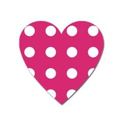Pink Dot Heart Magnet