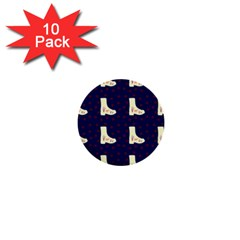 Navy Boots 1  Mini Buttons (10 Pack)