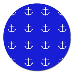 Royal Anchors Magnet 5  (round)