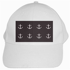 Grey Anchors White Cap