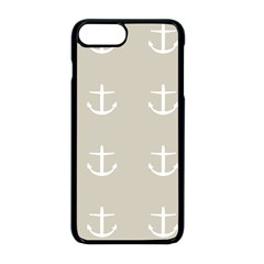 Lt Grey Anchors Apple Iphone 8 Plus Seamless Case (black)