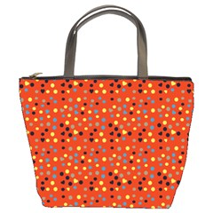 Red Retro Dots Bucket Bags
