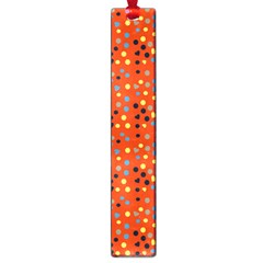 Red Retro Dots Large Book Marks
