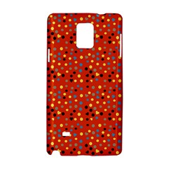 Red Retro Dots Samsung Galaxy Note 4 Hardshell Case