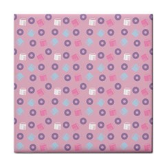 Milk And Donuts Pink Tile Coasters