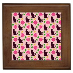 Outside Cats Framed Tiles