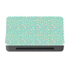 Light Teal Hearts Memory Card Reader With Cf