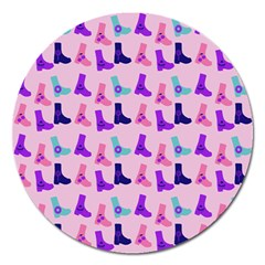Candy Boots Magnet 5  (round)