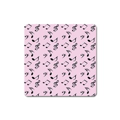 Pink Music Square Magnet