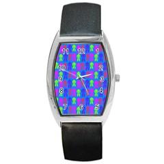 Neon Robot Barrel Style Metal Watch