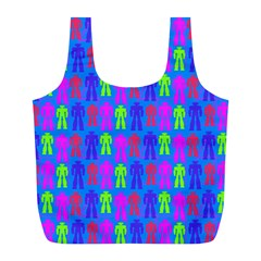 Neon Robot Full Print Recycle Bags (l)