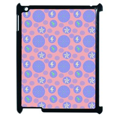Pink Retro Dots Apple Ipad 2 Case (black)