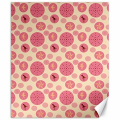 Cream Retro Dots Canvas 20  X 24
