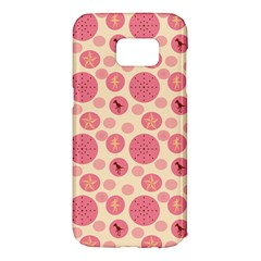Cream Retro Dots Samsung Galaxy S7 Edge Hardshell Case