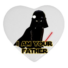 Darth Vader Cat Heart Ornament (two Sides)