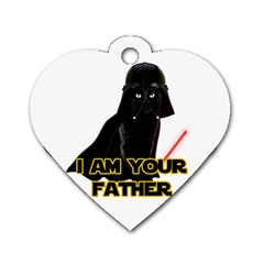 Darth Vader Cat Dog Tag Heart (two Sides)
